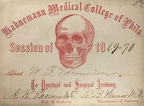 Medical college certificate.