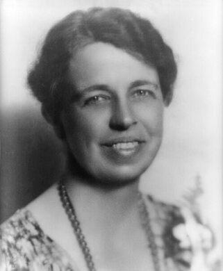 Anna Eleanor Roosevelt in 1933.