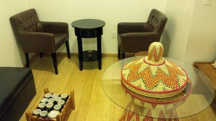Kaffa Coffee interior.