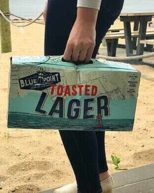 Toasted Lager on the shore.