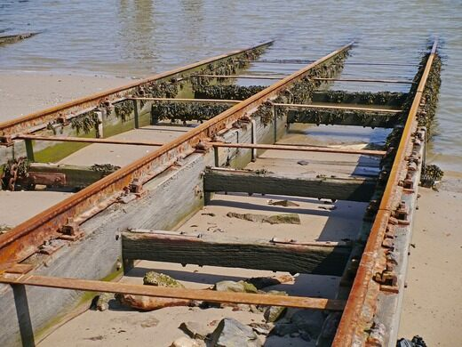 Waterside dry dock.
