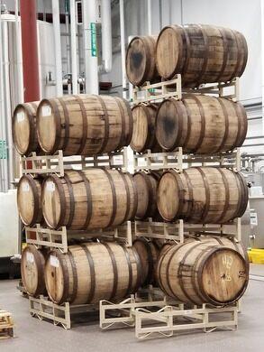 Brewery kegs.