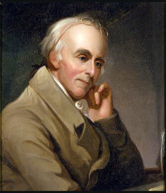 Portrait of Benjamin Rush by Charles Peale.
