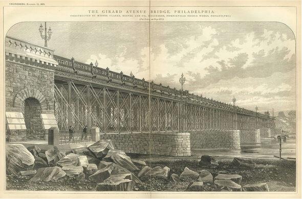 The Girard Avenue Bridge, 1875.