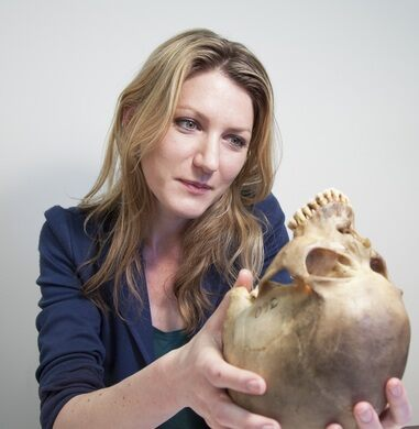 Sabrina Sholts, a curator of biological anthropology at the Smithsonian's National Museum of Natural History (NMMNH).