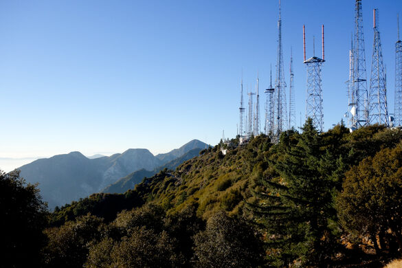 Radio Ridge antenna farm on the way to the observatory.