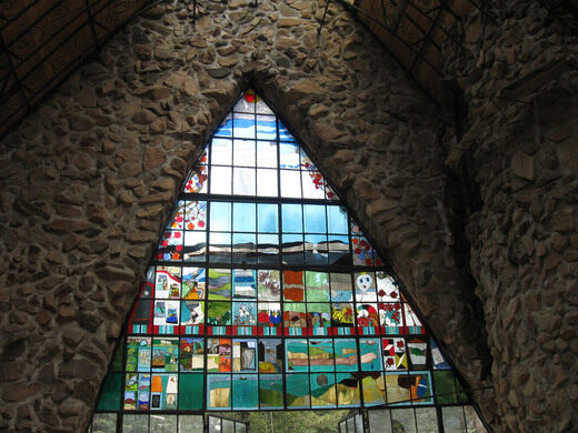 Bishop Castle stained glass.