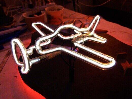 Neon sculpture.