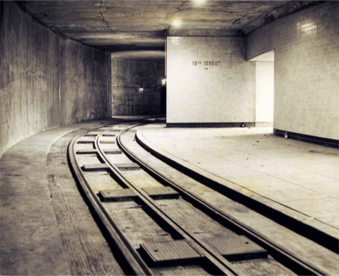 Artistic rendering of Dupont Underground's past