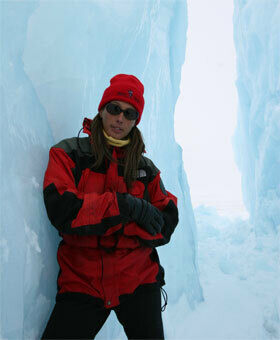 Christine Dennison in the Canadian High Arctic