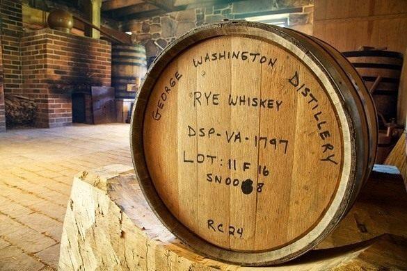 A barrel of Washington's rye whiskey.