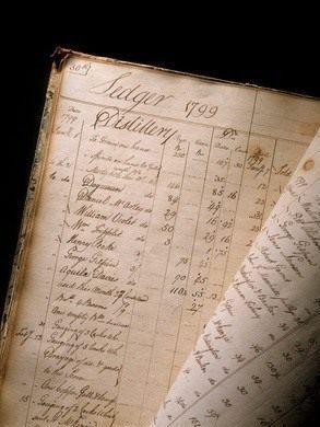 A handwritten ledger from the distillery.