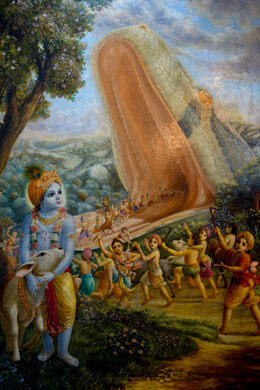 Painting inside the Temple.