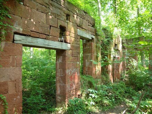 Ruins of Seneca Quarry Stone Cutting Mill.