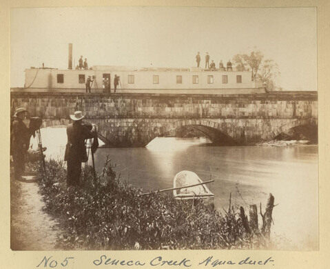 The Photographic Society captures the Seneca Creek Aqueduct over the C&O Canal in 1882.