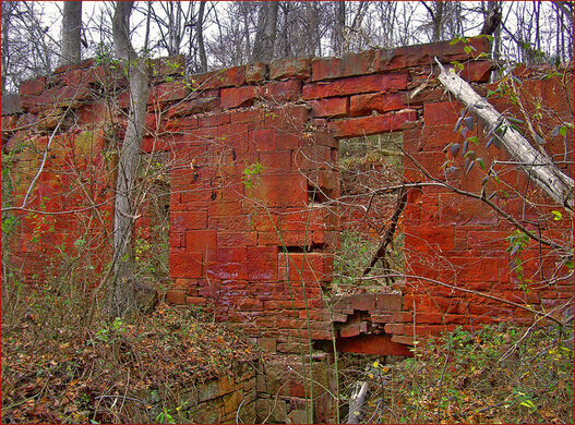 Ruins of the stone cutting mill.