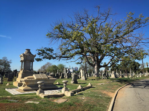 Evergreen Cemetery.