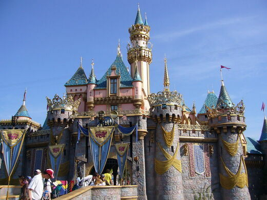 Sleeping Beauty's castle, in Disneyland.
