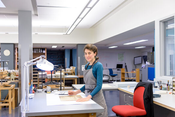 Associate Conservator Claire Kenny.