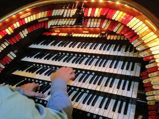 The organist at work.