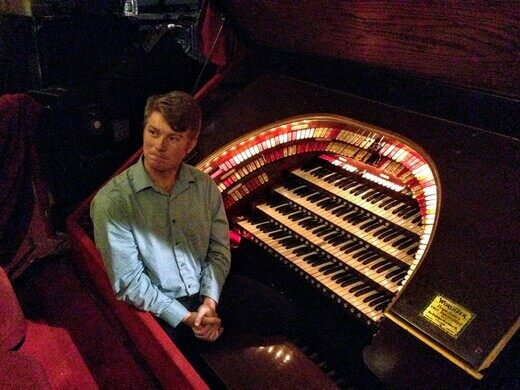 Glenn Tallar, organist at the Chicago Theatre.