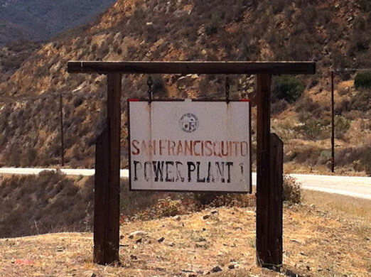 Power plant sign.
