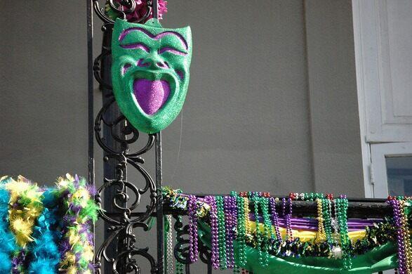 Mardi Gras Beads.