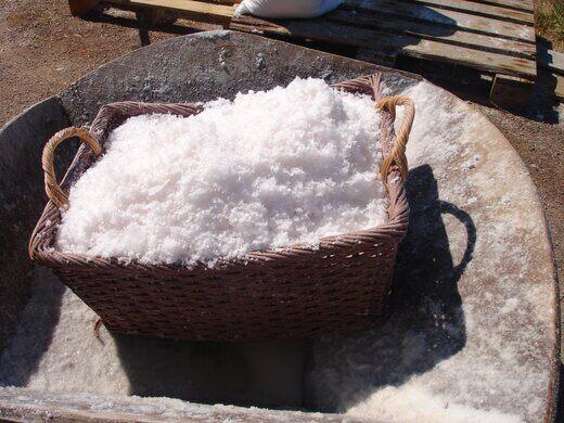 A basket of sea salt