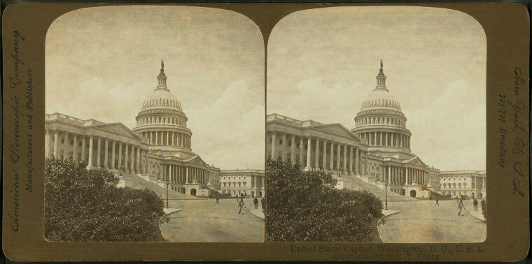 Stereoscopic views of the U.S. Capitol.