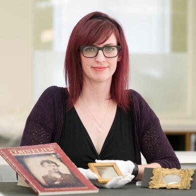 Photo conservator & project lead, Rachel Wetzel.