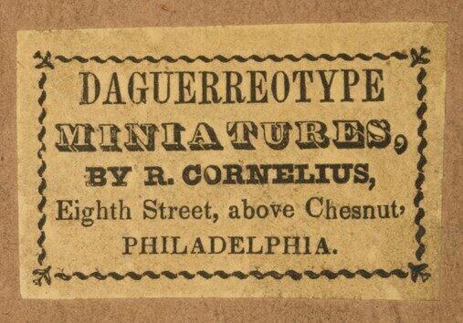 Stamp from Robert Cornelius' first studio.