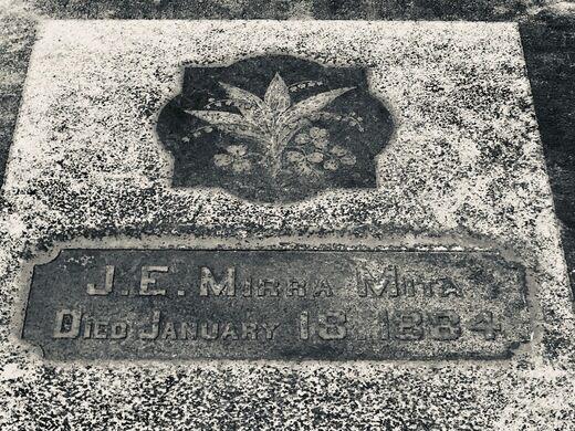 The grave of cult leader Mirra Mita