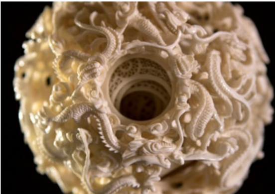 Ivory Puzzle Ball.