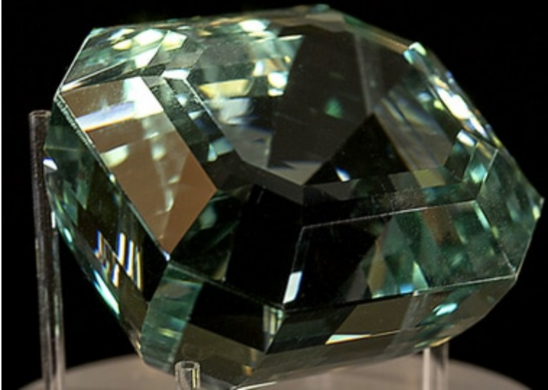 Faceted Aquamarine.