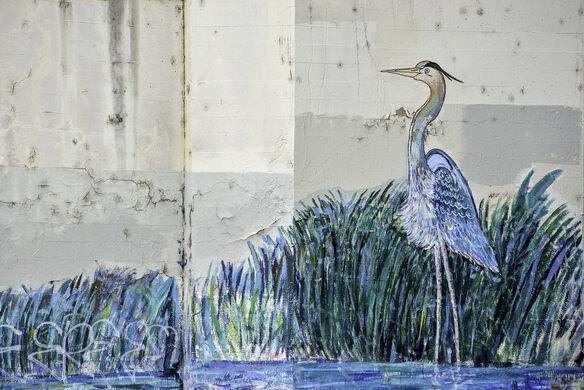 Heron mural.
