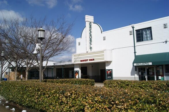 The town's historic movie theater.
