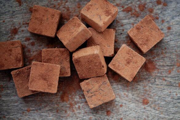Handcrafted chocolate ganache truffles. Yum!