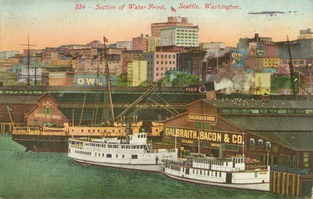 Gaibraith Dock circa 1912.
