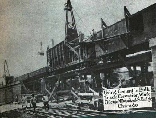 Construction of the Bloomingdale Line.