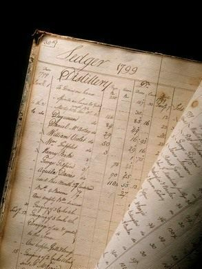 A handwritten ledger from the distillery.