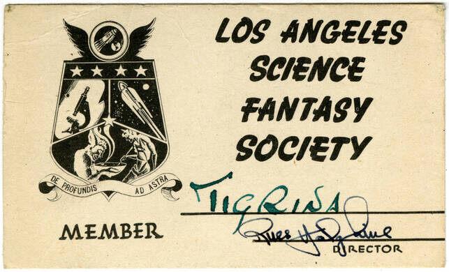 Los Angeles Science Fiction Club Card.