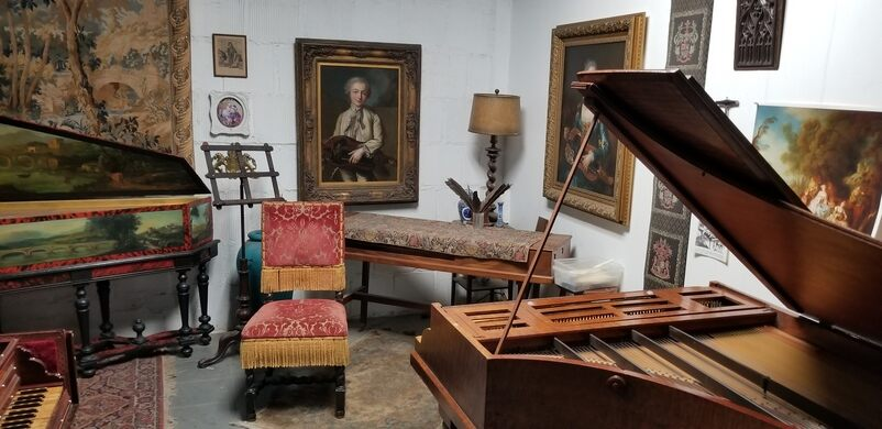Harpsichord studio.