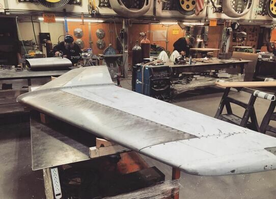 Delta wingman in production.