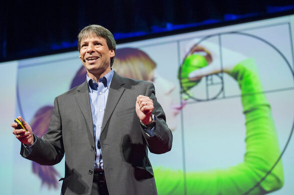 Arthur Benjamin during a TED Talk.