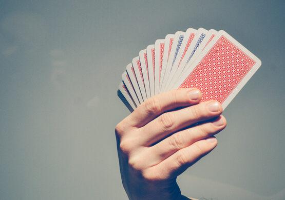 Card trick.