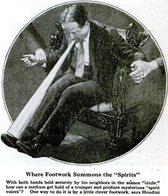 The Harry Houdini Trumpet Trick.