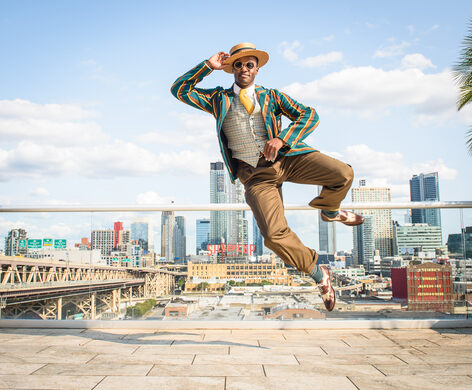 Dandy's impeccable jump skills bring his music to new heights.