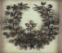 Victorian Mourning Hair jewelry.