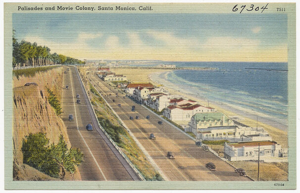 Palisades and Movie Colony, Santa Monica, California.