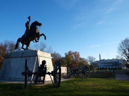 Andrew Jackson in Lafayette Square.